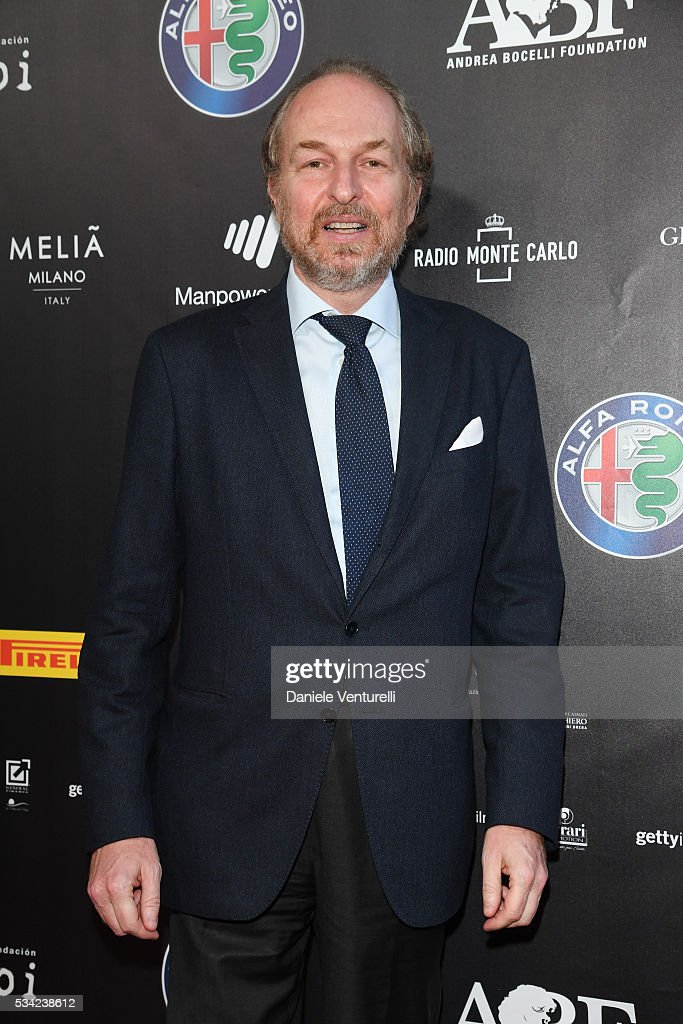 Arturo Artom walks the red carpet of Bocelli and Zanetti Night on May 25, 2016 in Rho, Italy.