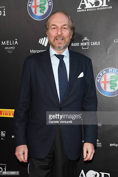 Arturo Artom walks the red carpet of Bocelli and Zanetti Night on May 25 2016 in Rho Italy