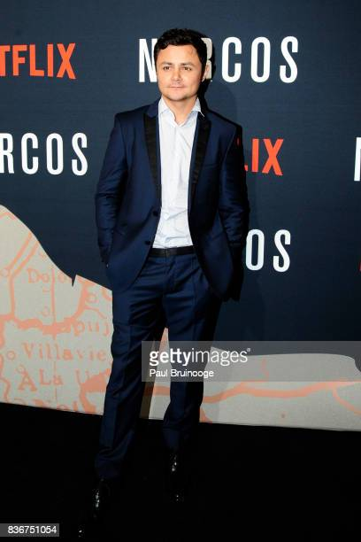 Arturo Castro attends 'Narcos' Season 3 New York Screening Arrivals at AMC Lincoln Square 13 Theater on August 21 2017 in New York City