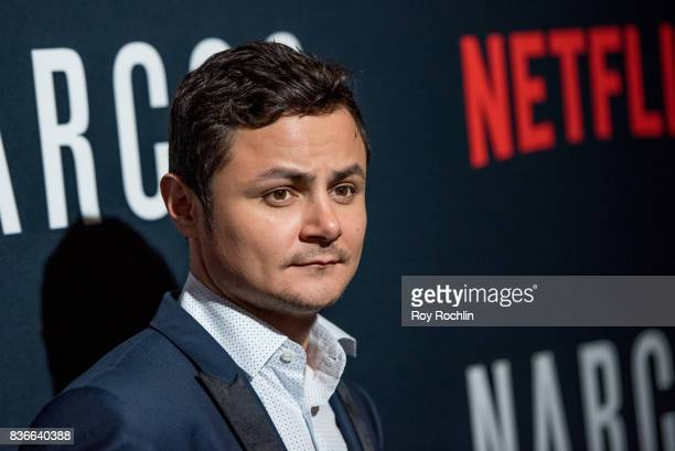 Arturo Castro attends 'Narcos' season 3 New York screening at AMC Loews Lincoln Square 13 theater on August 21 2017 in New York City