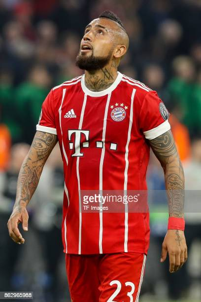 Arturo Erasmo Vidal of Bayern Muenchen looks on during the UEFA Champions League group B match between Bayern Muenchen and Celtic FC at Allianz Arena...