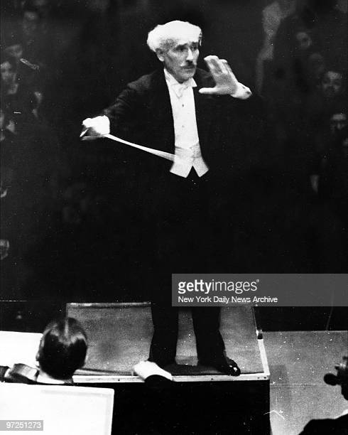 Arturo Toscanini Symphonic orchestra conductor at work