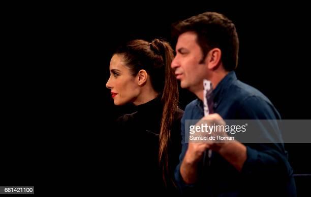 Arturo Valls and Pilar Rubio attends Ninja Warrior photocall on March 31 2017 in Burgos Spain