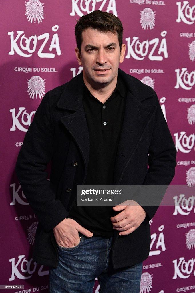 Arturo Valls attends 'Cirque Du Soleil' Kooza 2013 premiere on March 1, 2013 in Madrid, Spain.