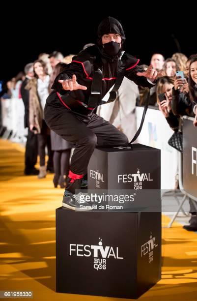 Arturo Valls attends fesTVal Orange Carpet on March 31 on March 31 2017 in Burgos Spain