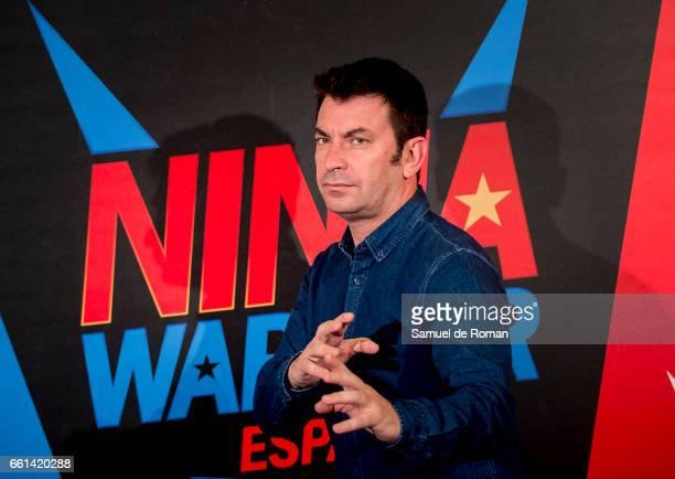 Arturo Valls attends Ninja Warrior photocall on March 31 2017 in Burgos Spain