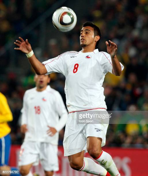 Arturo VIDAL Bresil / Chili 8eme de Finale coupe du monde 2010 Afrique du Sud