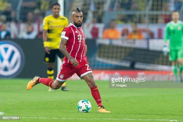 Arturo Vidal of Bayern Muenchen controls the ball during the DFL Supercup 2017 match between Borussia Dortmund and Bayern Muenchen at Signal Iduna...