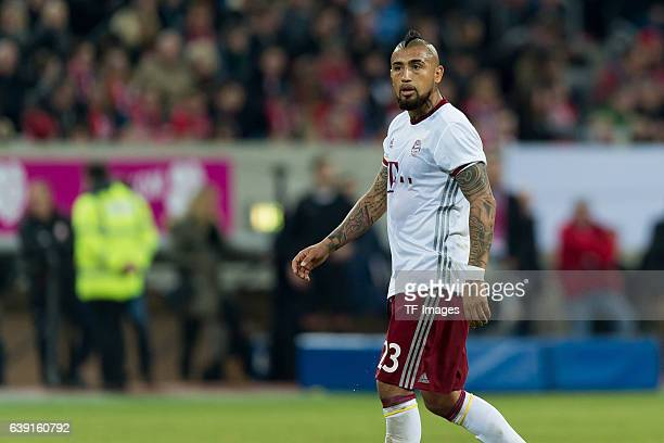 Arturo Vidal of Bayern Munich looks on during the Telekom Cup 2017 at EspritArena on January 14 2017 in Duesseldorf Germany