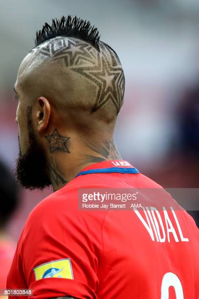 Arturo Vidal of Chile during the FIFA Confederations Cup Russia 2017 Group B match between Chile and Australia at Spartak Stadium on June 25 2017 in...