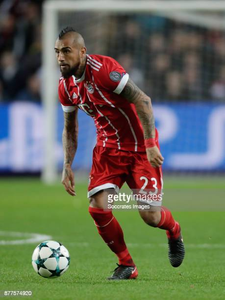 Arturo Vidal of FC Bayern Munchen during the UEFA Champions League match between Anderlecht v Bayern Munchen at the Constant Vanden Stock Stadium on...