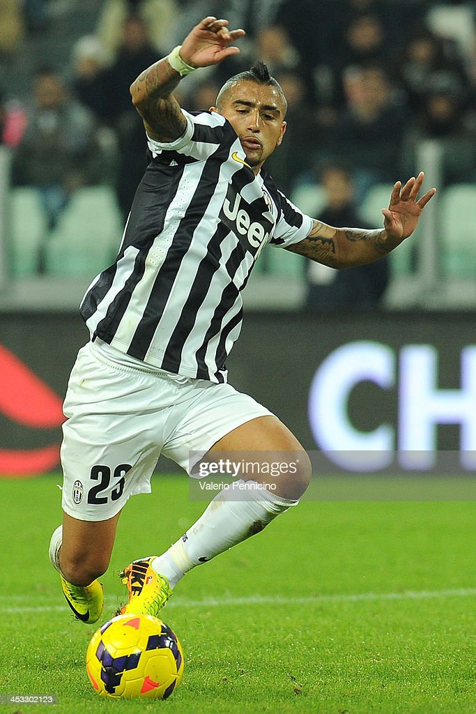 Arturo Vidal of Juventus in action during the Serie A match between Juventus and Udinese Calcio at Juventus Arena on December 1, 2013 in Turin, Italy.
