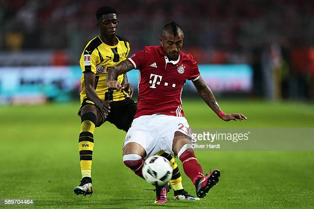 Arturo Vidal of Munich during DFL Supercup 2016 match between Borussia Dortmund and FC Bayern Muenchen at Signal Iduna Park on August 14 2016 in...