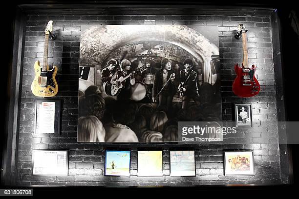 Artwork by artist Shannon MacDonald commemorating the date that The Rolling Stones played at The Cavern Club which was revealed inside of The Cavern...