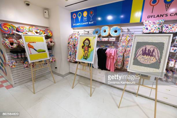 Artwork on display as Dylan Lauren celebrates the Sweet 16 of Dylan's Candy Bar on October 17 2017 in New York City