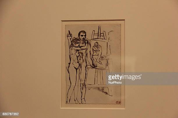 Artwork quotÉtude pour La Viequot by Pablo Picasso Pen and Ink during Pablo Picasso's exhibition held in Rio de Janeiro File image produced on...
