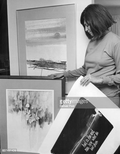 Artwork Selected for OneMan Show Mrs Terry Dunlap shows work at International House Credit Denver Post Photos
