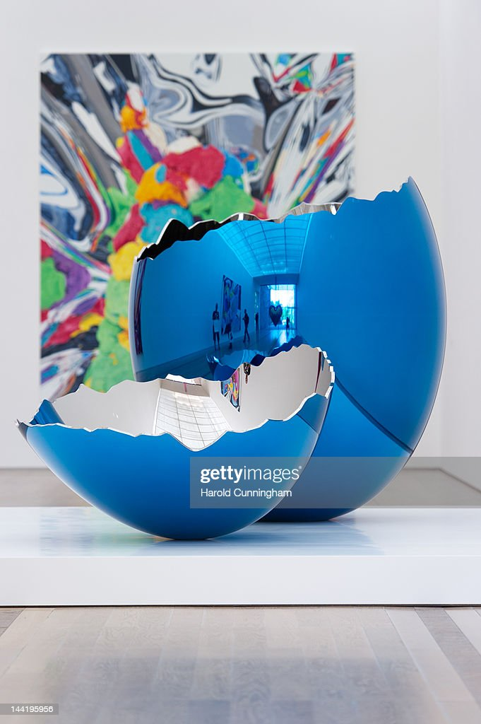 Artworks by Jeff Koons are displayed during the 'Jeff Koons' exhibition preview at the Fondation Beyeler on May 11, 2012 in Basel, Switzerland. The exhibition devoted to the American artist will be on display from May 13 until September 2, 2012.