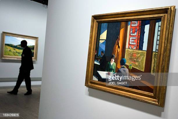 Artworks of US artist Edward Hopper are displayed as part of an exhibition dedicated to his work on October 5 2012 at the Grand Palais in Paris AFP...
