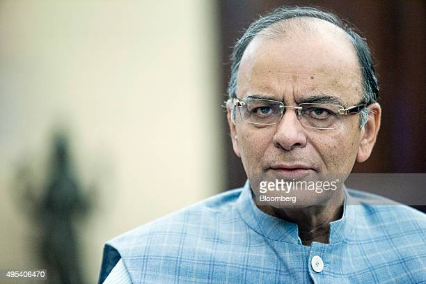 Arun Jaitley India's finance minister speaks during an interview at his office in the North Block of the Central Secretariat building in New Delhi...