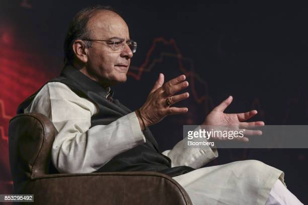 Arun Jaitley India's finance minister speaks during the Bloomberg India Economic Forum in Mumbai India on Friday Sept 22 2017 Jaitley said India...