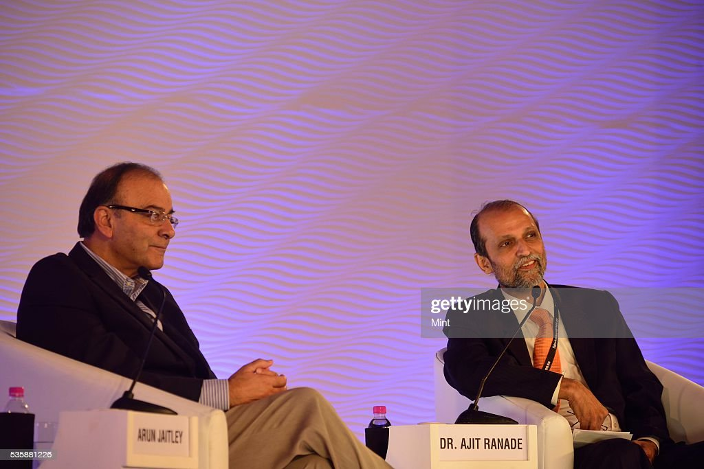 Arun Jaitley, Union Minister for Finance, Corporate Affairs and Information and Broadcasting, speaks during Hindustan Times Leadership Summit, in conversation with Chief Economist of Aditya Birla Group, Dr. Ajit Ranade on December 4, 2015 in New Delhi, India.