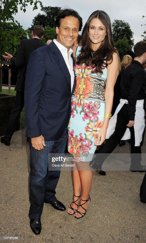 Arun Nayar (L) and Kim Johnson attend The Serpentine Gallery Summer Party sponsored by Leon Max at The Serpentine Gallery on June 26, 2012 in London, England.