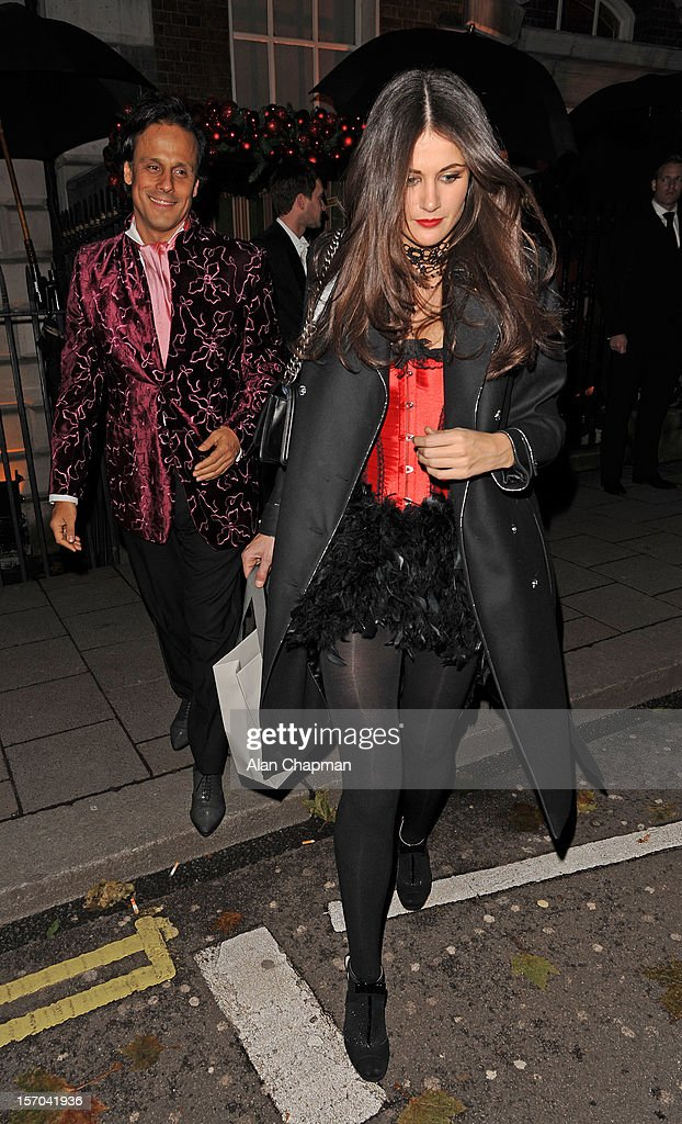 Arun Nayar and Kim Johnson sighting at Annabels on November 27, 2012 in London, England.