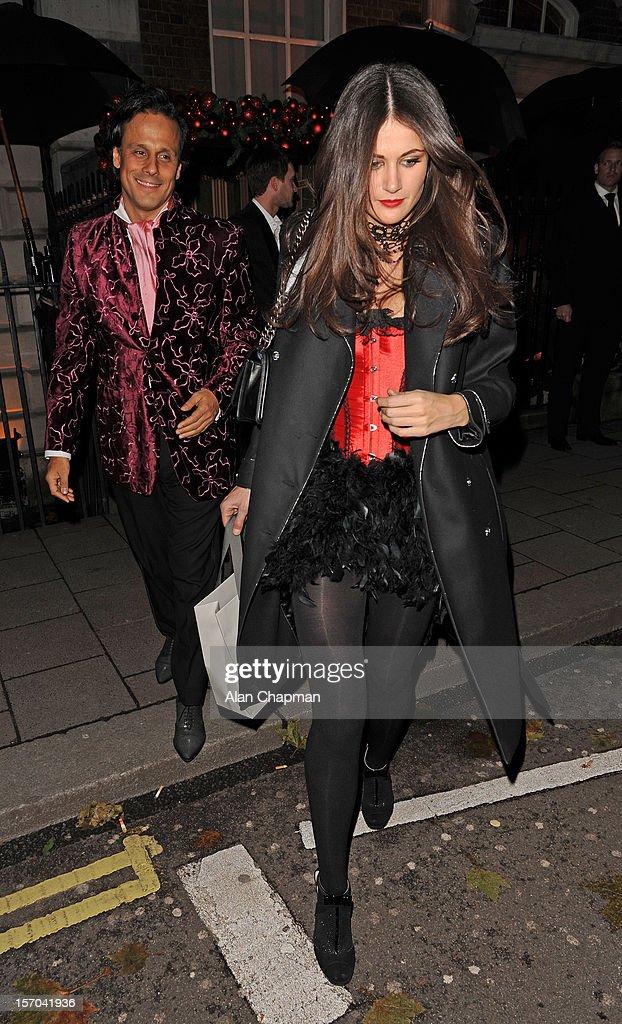 Arun Nayar and Kim Johnson sighting at Annabels on November 27, 2012 in London, England.