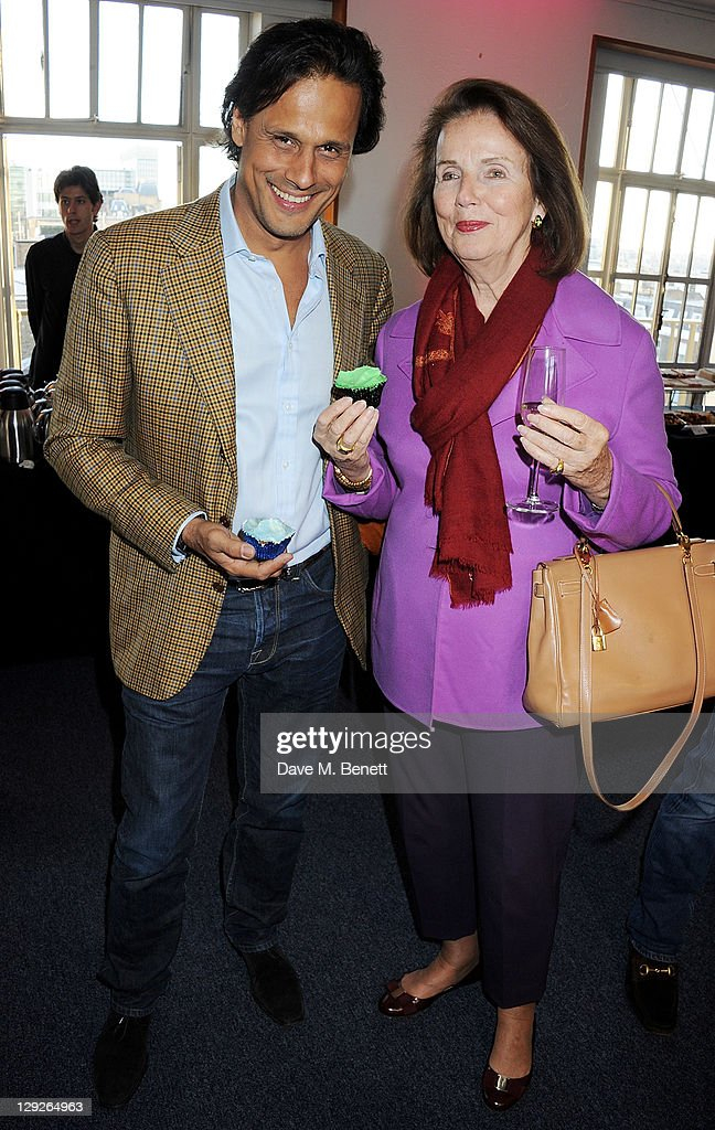 Arun Nayar (L) and mother Gunnar Nayar attend the AMNESTEA Party hosted by Patrick Cox to celebrate Amnesty International's 50th Anniversary and launch 'Art Cakes & Cookies' at Royal Institute of British Architects on October 15, 2011 in London, England.