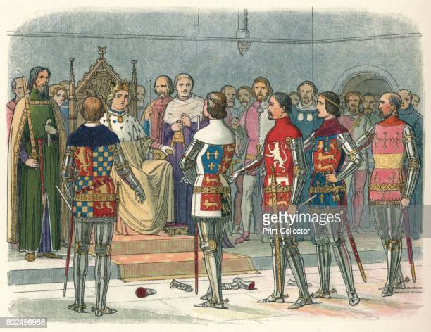Arundel Gloucester Nottingham Derby and Warwick before the king' Westminster 1387 The Lords Arundel Gloucester Nottingham Derby and Warwick before...