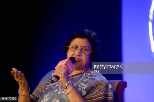 Arundhati Bhattacharya Chairperson SBI during the 10th Mint Banking Conclave 2017 on January 23 2017 in Mumbai India