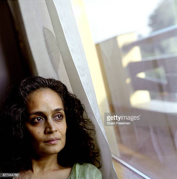 Arundhati Roy Booker Prize winning author of 'The God of Small Things' at her home in New Delhi India In recent years Roy has concentrated on...