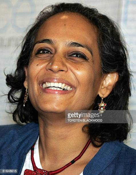 Arundhati Roy the awardwinning Indian novelist and human rights campaigner is all smiles after winning the Australian Peace Prize in Sydney 03...