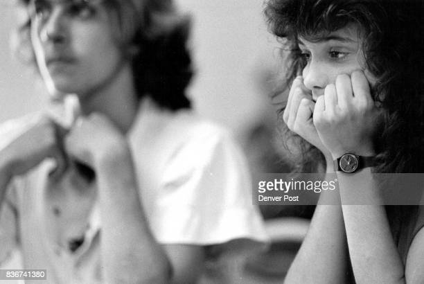 Arvada West High School students Troy Powell and Kolette Dalton contemplate getting a job during a workshop in seeking employment Credit The Denver...