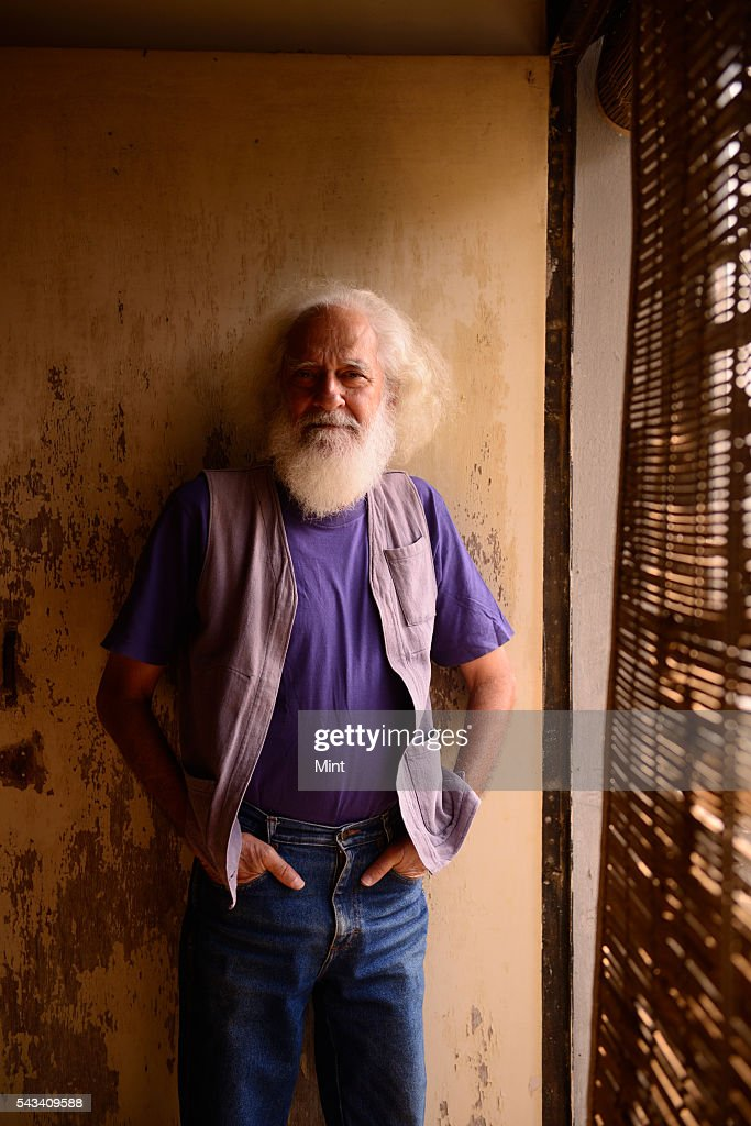 Arvind Krishna Mehrotra, noted Indian poet, anthologist, literary critic and translator, during a profile shoot on November 19, 2014 in Allahabad, India.