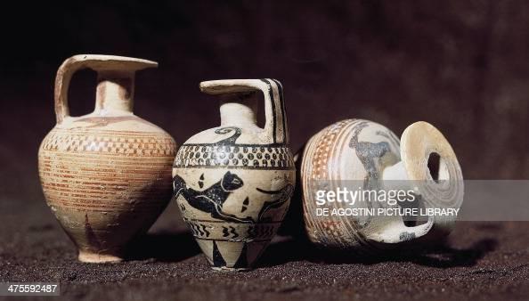 Aryballoi from Taranto Puglia Italy Greek civilisation 8th century BC Taranto Museo Archeologico Nazionale