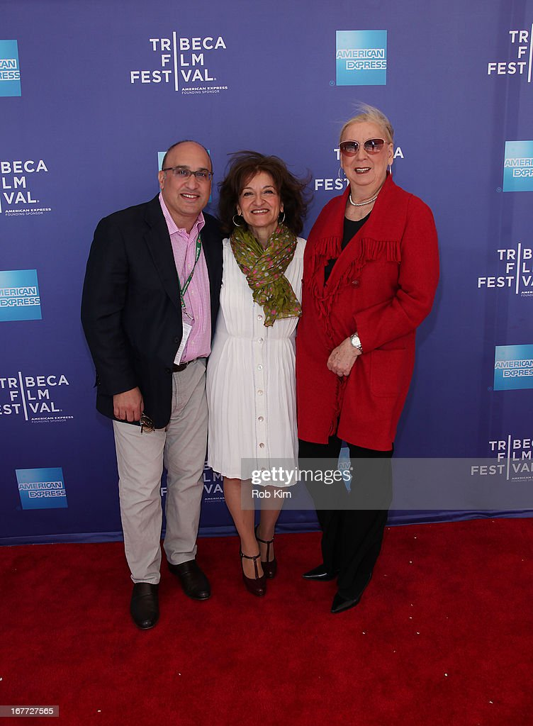Aryeh Bourkoff, Vivienne Roumani and Jane Friedman attend Tribeca Talks After The Movie: 'Out Of Print' during the 2013 Tribeca Film Festival on April 28, 2013 in New York City.