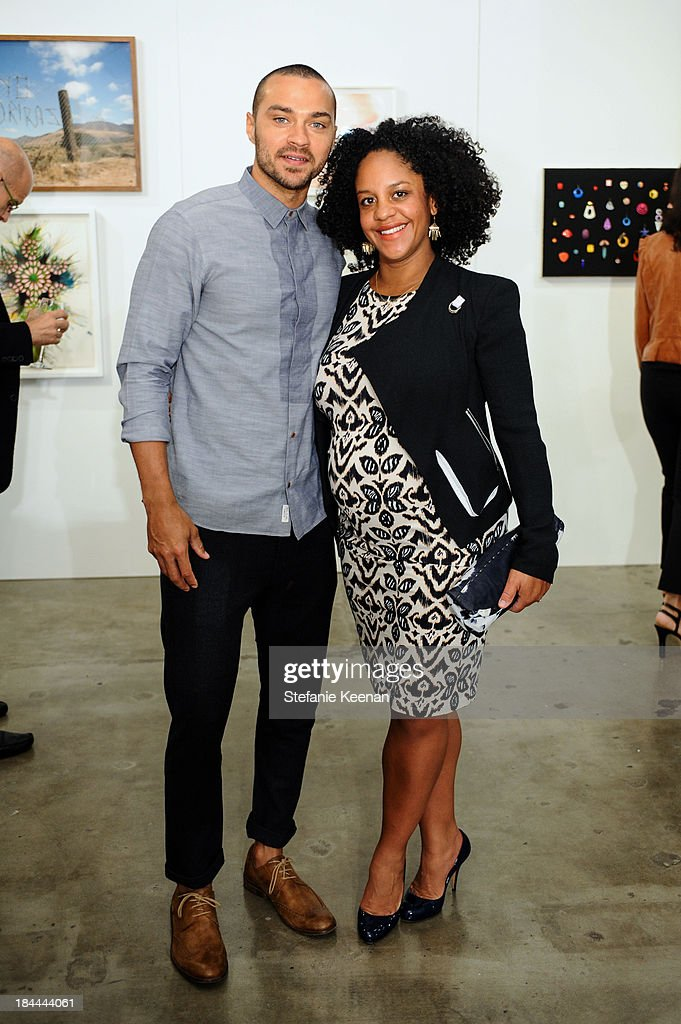 Aryn Drakelee-Williams and Jesse Williams attend The Mistake Room's Benefit Auction on October 13, 2013 in Los Angeles, California.
