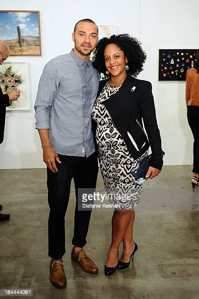 Aryn DrakeleeWilliams and Jesse Williams attend The Mistake Room's Benefit Auction on October 13 2013 in Los Angeles California