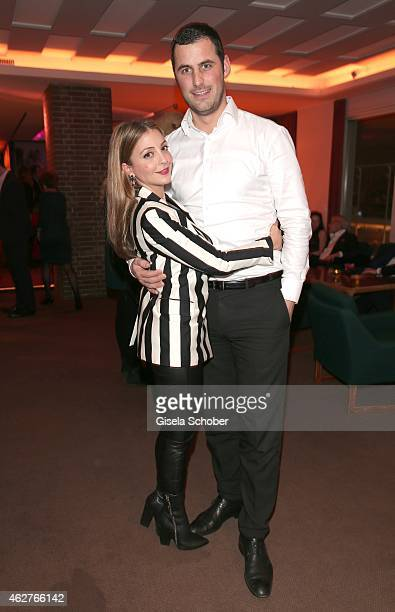 Arzu Bazman and her boyfriend Philipp during the birthday celebration of Maren Gilzer's 55th birthday on February 4 2015 in Berlin Germany Welcome...