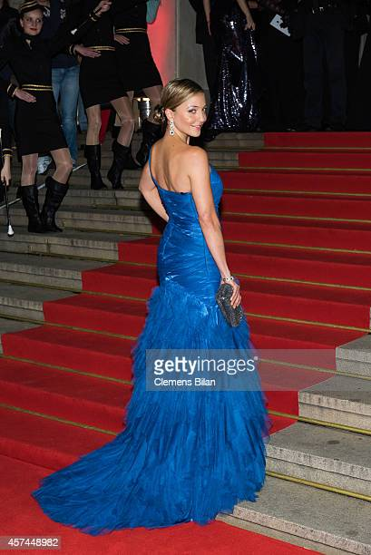 Arzu Bazman attends the Opera Ball Leipzig at Opernhaus on October 18 2014 in Leipzig Germany