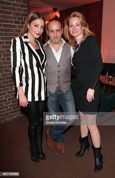 Arzu Bazman Erdogan Atalay and his partner Katja Ohneck during the birthday celebration of Maren Gilzer's 55th birthday on February 4 2015 in Berlin...