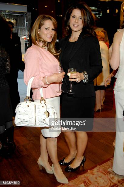 Arzu Dilek and Emel Dilek attend de Grisogono hosts The Central Park Conservancy's Platinum Jewels in Bloom Cocktail Reception at de Grisogono on...