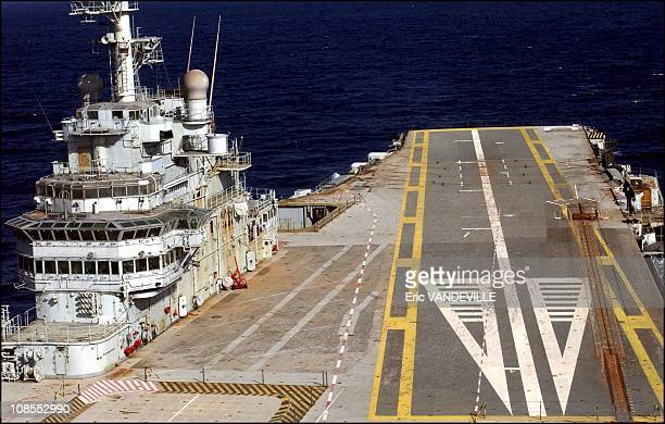 As a result of a contractual dispute over asbestos and scrap rights the former flagship of the French navy the aircraftcarrier Clemenceau is stranded...