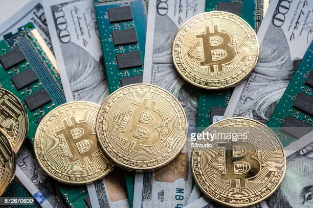 As a visual representation of the digital Cryptocurrency Bitcoin with US Dollar on November 9 2017 in Hong Kong Hong Kong Cryptocurrencies Bitcoin...