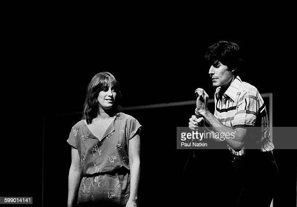 As an audience member watches Israeli popular entertainer Uri Geller performs illusions onstage at the Park West Chicago Illinois August 25 1979