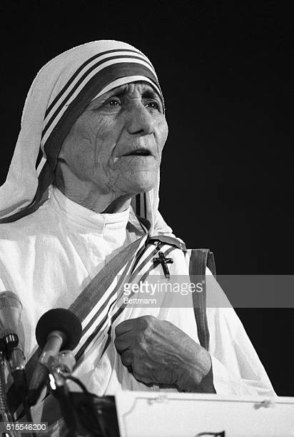 As debate over abortion intensifies in the US Mother Teresa Roman Catholic nun whose work among India's poor and dying won her the Nobel Peace Prize...