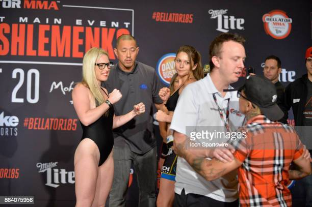 As Heather Hardy and Kristina Williams pose for photos at the weighin Pro Boxer Shelly Vincent crashes the weigh in Heather Hardy will be challenging...