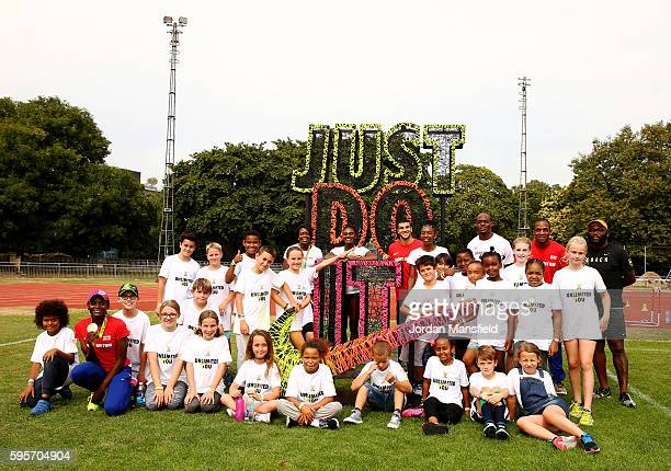 As part of a series of events in London Daryll NeitaAsha PhilipDina AsherSmithAdam GemiliBianca WilliamsJames DasaoloCJ Ujah teamed up with Nike to...